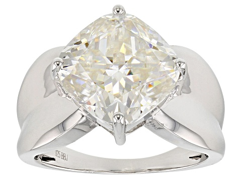 Moissanite Platineve Ring 6.68ctw DEW.
