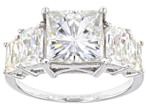 Moissanite Platineve Ring 5.16ctw DEW.