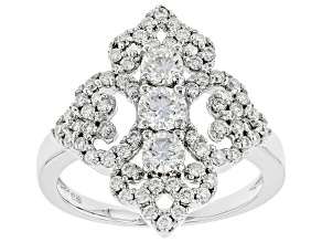 Moissanite Platineve Ring 1.15ctw DEW.