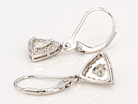 Moissanite Platineve Earrings .90ctw DEW