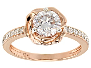 Moissanite 14k Rose Gold Over Silver Ring 1.16ctw DEW.