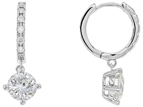 Moissanite Platineve Earrings 1.84ctw DEW.