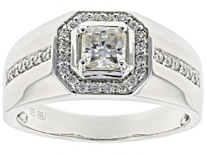 Moissanite Platineve Gents Ring .97ctw DEW.