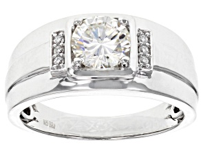 Moissanite Platineve Mens Ring 1.26ctw DEW.