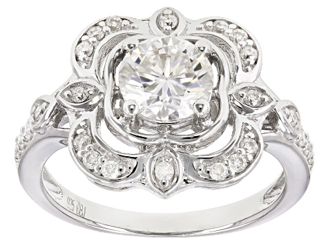 Moissanite Platineve ring 1.24ctw DEW