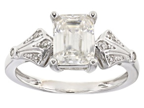 Moissanite Platineve Ring 1.83ctw DEW