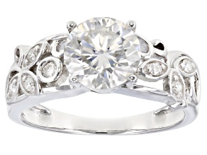 Moissanite Platineve Ring 2.05ctw DEW