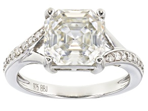 Moissanite Platineve Ring 4.28ctw DEW