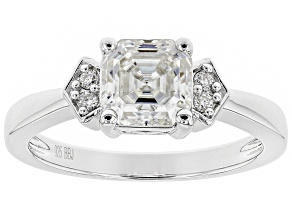 Moissanite Platineve ring 1.58ctw DEW