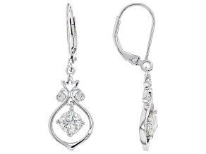 Moissanite Platineve earrings 1.04ctw DEW