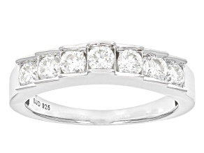Moissanite Platineve Ring .70ctw DEW.