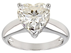 Moissanite Platineve Ring 3.70ct DEW.