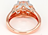 Moissanite 14k Rose Gold Over Silver Ring 2.00ctw DEW.