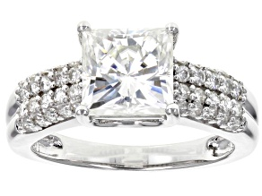 Moissanite Platineve Ring 2.90ctw DEW.