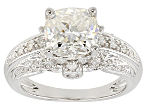 Moissanite Platineve Ring 3.24ctw DEW.