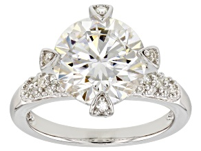 Moissanite Platineve Ring 4.60ctw DEW.