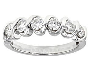 Moissanite Platineve Ring .78ctw DEW.
