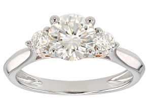 Moissanite Platineve And 14k Rose Gold Over Platineve Ring 1.52ctw D.E.W