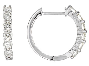 Moissanite Platineve Earrings 1.56ctw DEW.