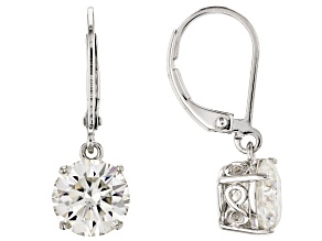 Moissanite Platineve Earrings 3.80ctw DEW