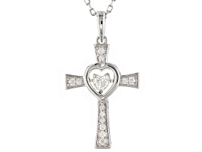 Moissanite Platineve Cross Pendant .41ctw DEW.