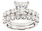Moissanite Platineve Ring 4.32ctw DEW