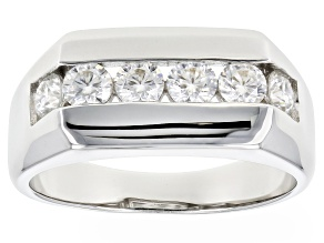 Moissanite Platineve Gents Ring .96ctw DEW