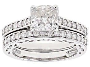 Moissanite Platineve Bridal Set 2.30ctw DEW