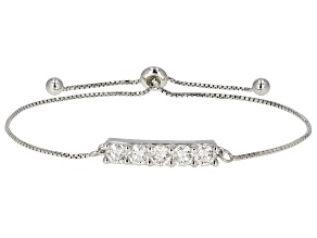 Moissanite Platineve adjustable bolo bracelet 1.65ctw DEW.