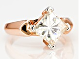 Moissanite 14k Rose Gold Over Silver Ring 3.10ct DEW.