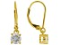 Moissanite 14k Yellow Gold Over Silver Earrings 1.00ctw DEW.