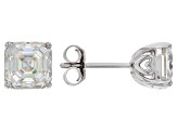 Moissanite 14k White Gold Stud Earrings 3.00ctw DEW.