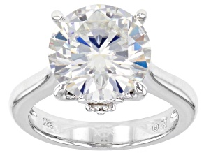 Moissanite Platineve Ring 5.49ctw DEW.