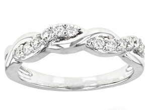 Moissaite Platineve Ring .36ctw DEW.