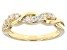Moissanite 14k Yellow Gold Over Silver Ring .36ctw DEW.