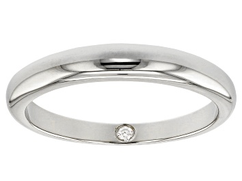 Picture of Moissanite Platineve Band Ring .02ct DEW.