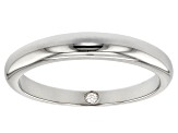 Moissanite Platineve Band Ring .02ct DEW.