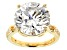 Moissanite 14k Yellow Gold Over Silver Ring 9.95ctw DEW