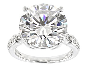 Moissanite Platineve Ring 9.95ctw DEW