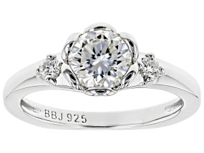 Moissanite Platineve Ring 1.10ctw DEW