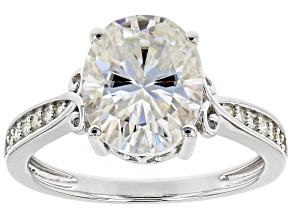 Moissanite Platineve Ring 4.34ctw DEW