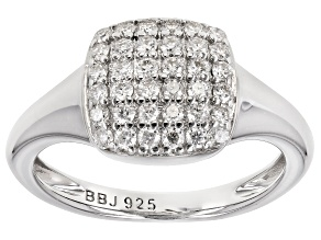 Moissanite Platineve Ring .72ctw DEW