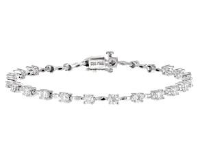 Moissanite Platineve bracelet 2.34ctw DEW
