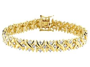 Moissanite 14k Yellow Gold Over Silver Bracelet 2.25ctw D.E.W