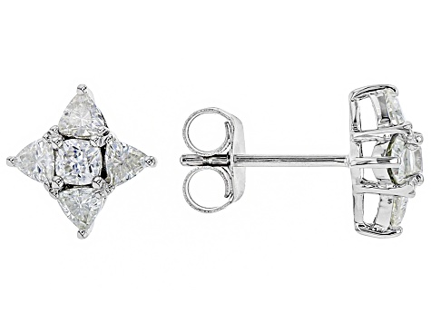 Moissanite Platineve Earrings 1.00ctw DEW.