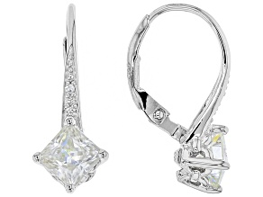 Moissanite Platineve Earrings 1.64ctw D.E.W