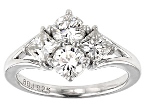 Moissanite Platineve Ring 1.82ctw DEW.
