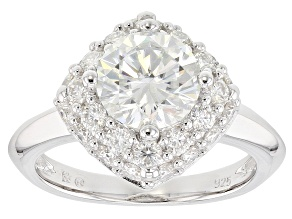 Moissanite Platineve Ring 3.30ctw DEW.