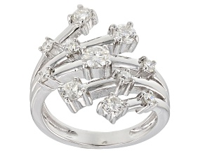 Moissanite Platineve® Ring 1.05ctw DEW