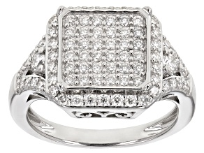 Moissanite Platineve® Ring .92ctw DEW